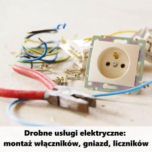 montaż włączników, gniazd i liczników
